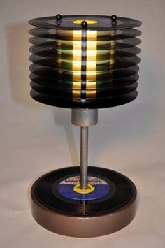 old vinyl lp into lamp