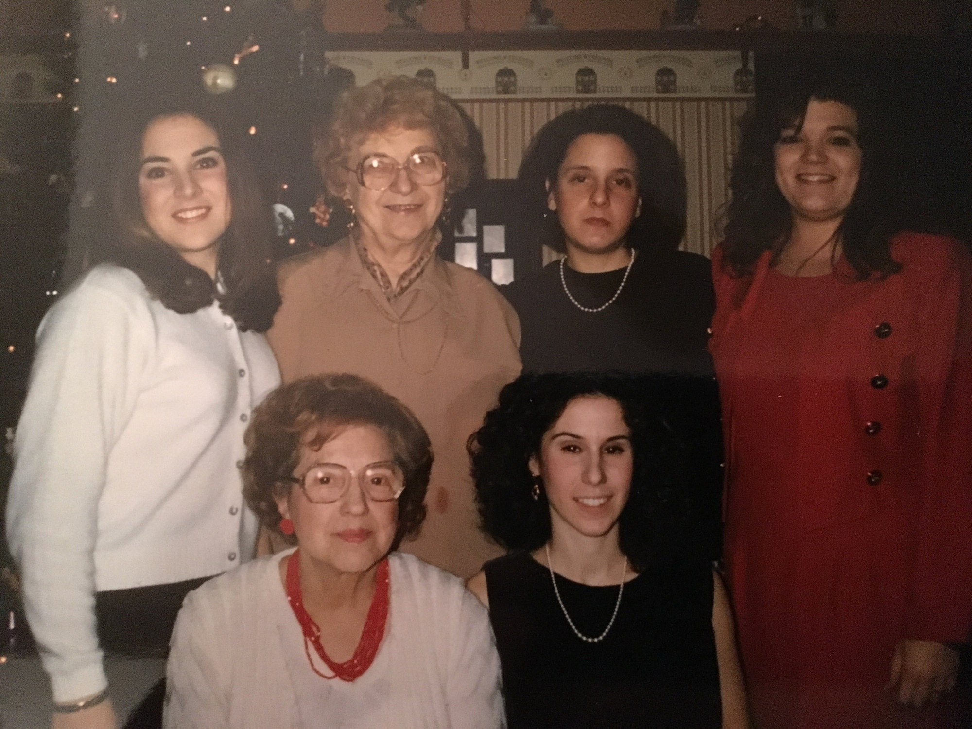 My Yaya and I are in the back row, closest to the left. This was taken on Christmas Day, 1996, four months before she passed away at the age of 77.