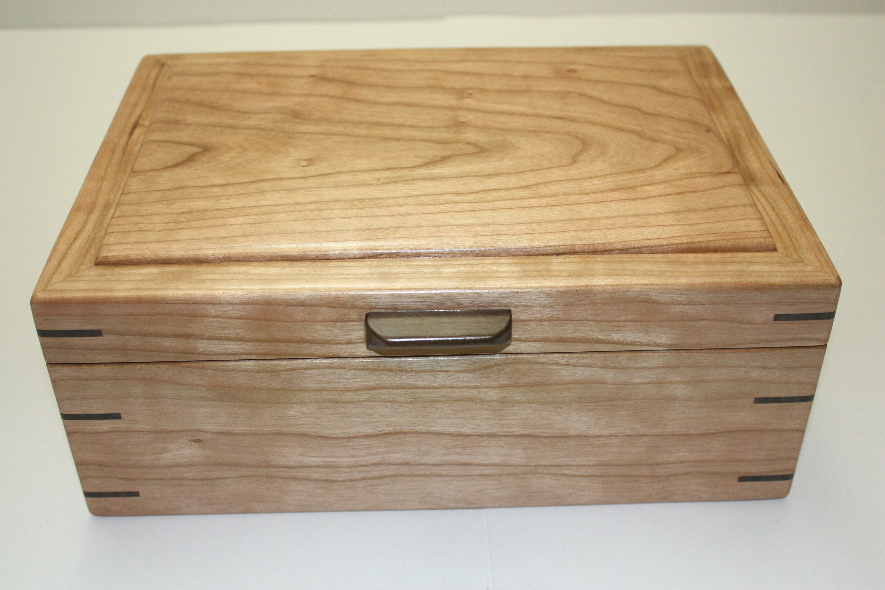 Large Cherry Wood Box For Sale