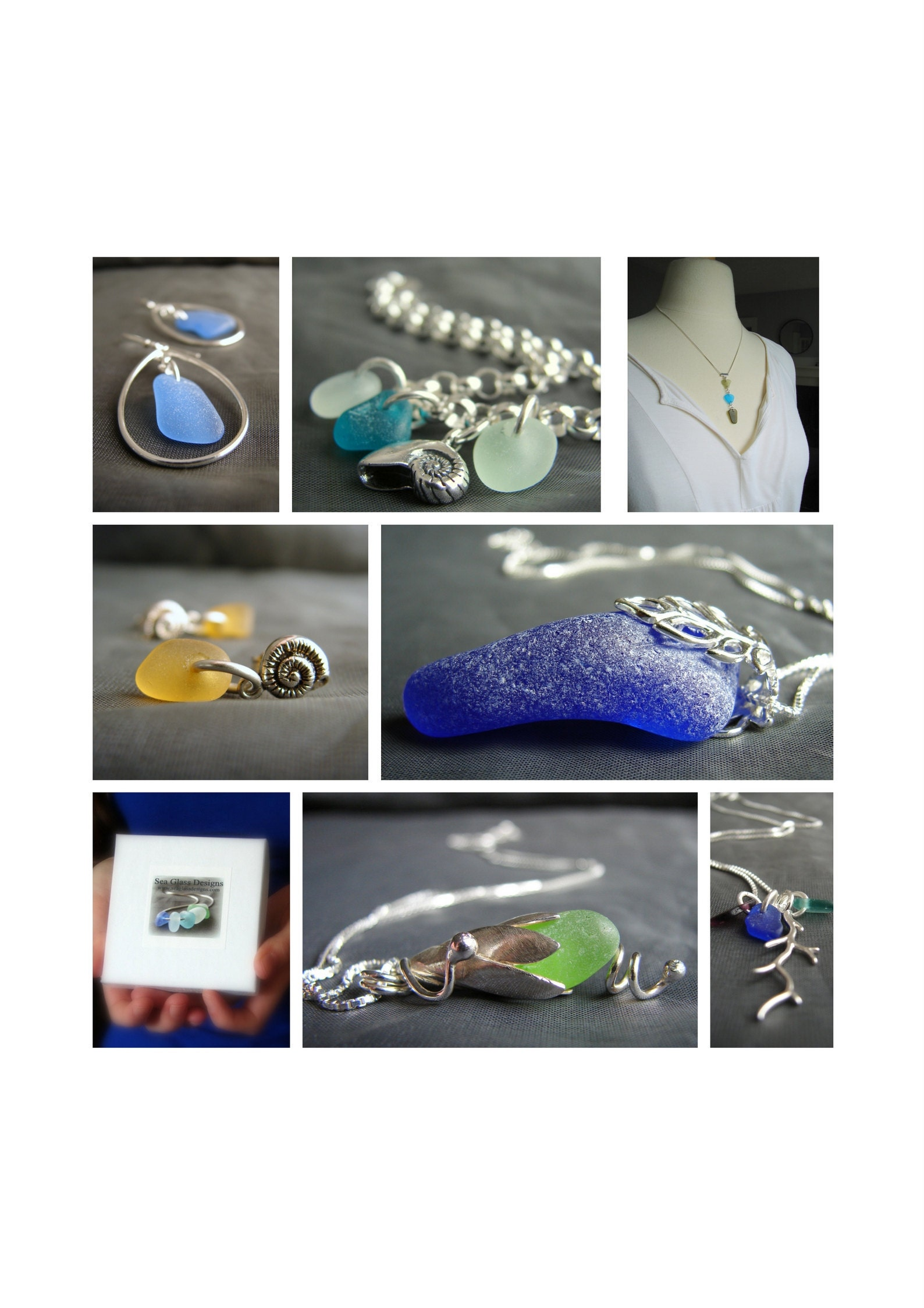 Sea glass jewelry by sea glass designs, nova scotia