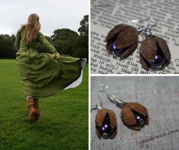 gunadesign natural material earrings