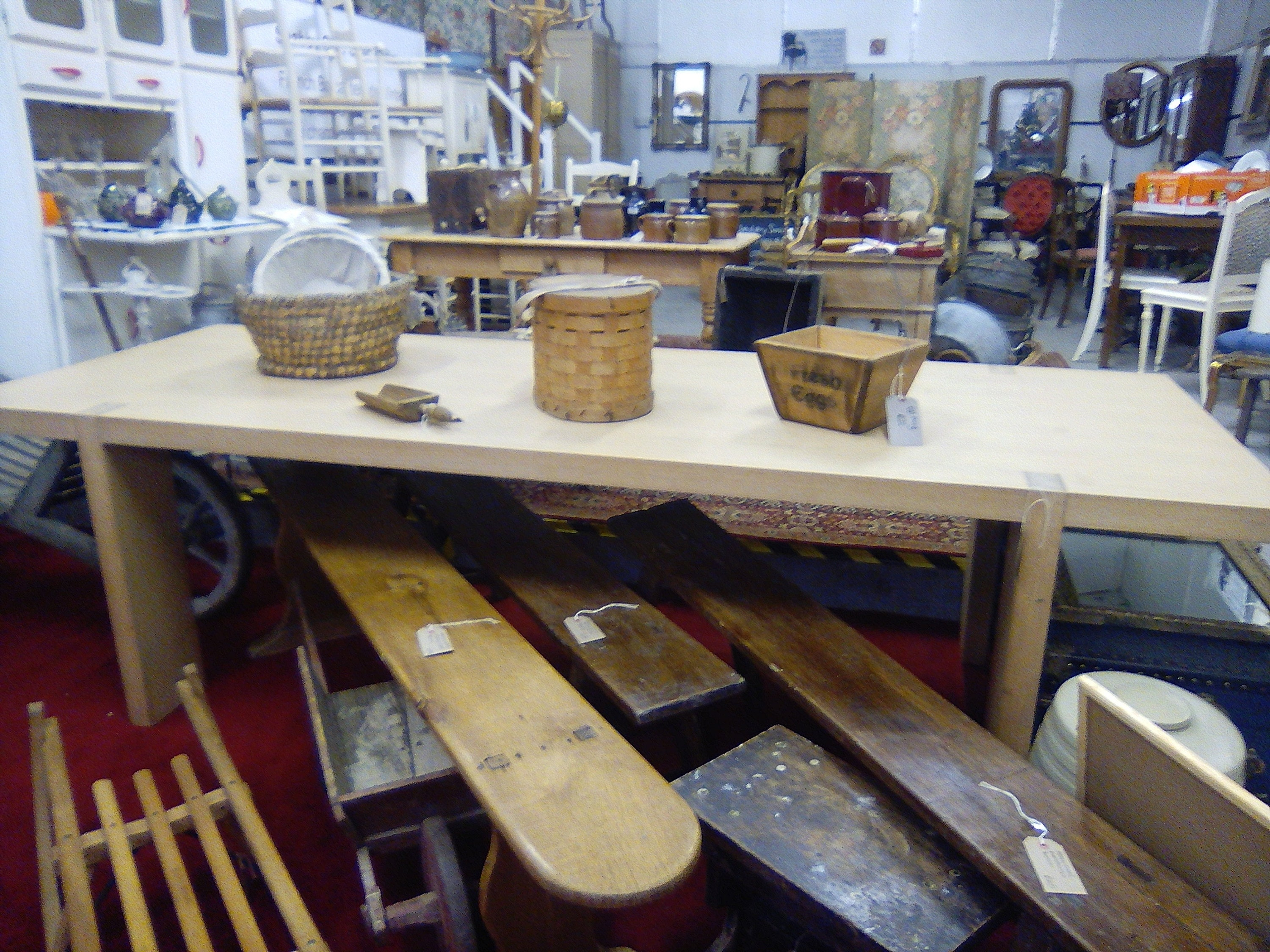 The shop at Bromsberrow filled with fabulous furniture and knick-knacks