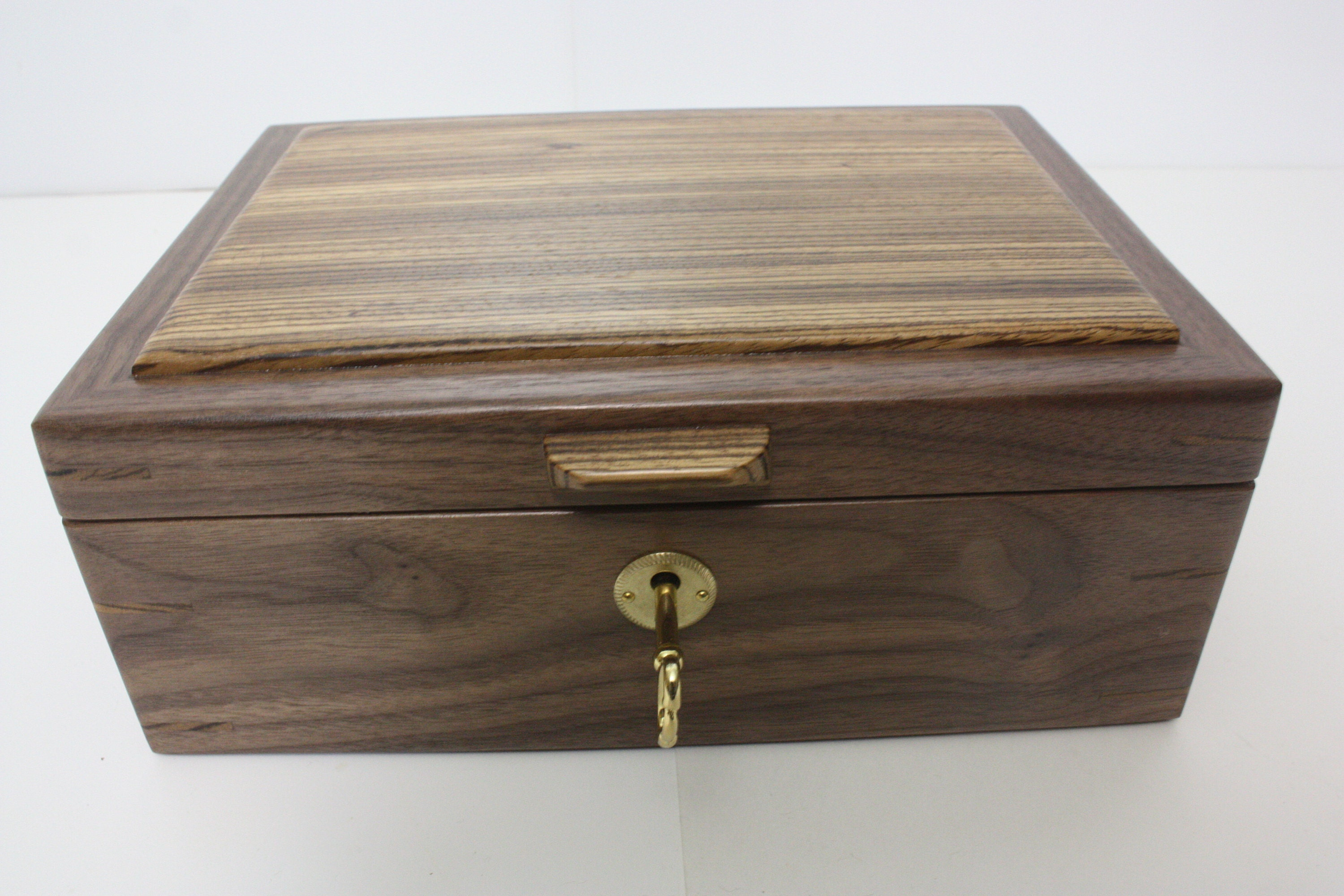 Locking Wood Box For Sale