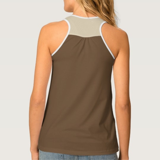 Back of Falling Leaves Racerback Tank
