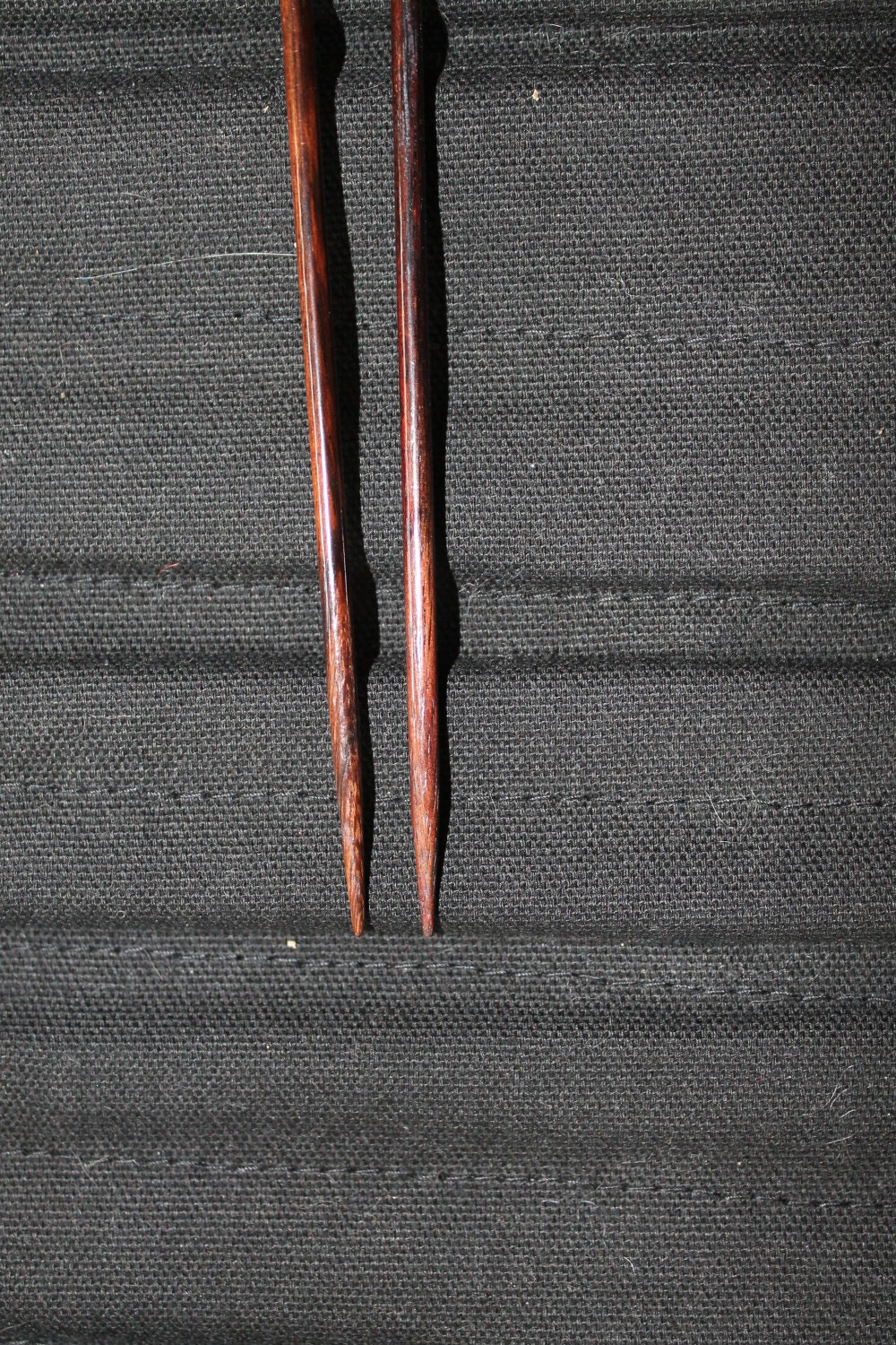 worn wooden tips