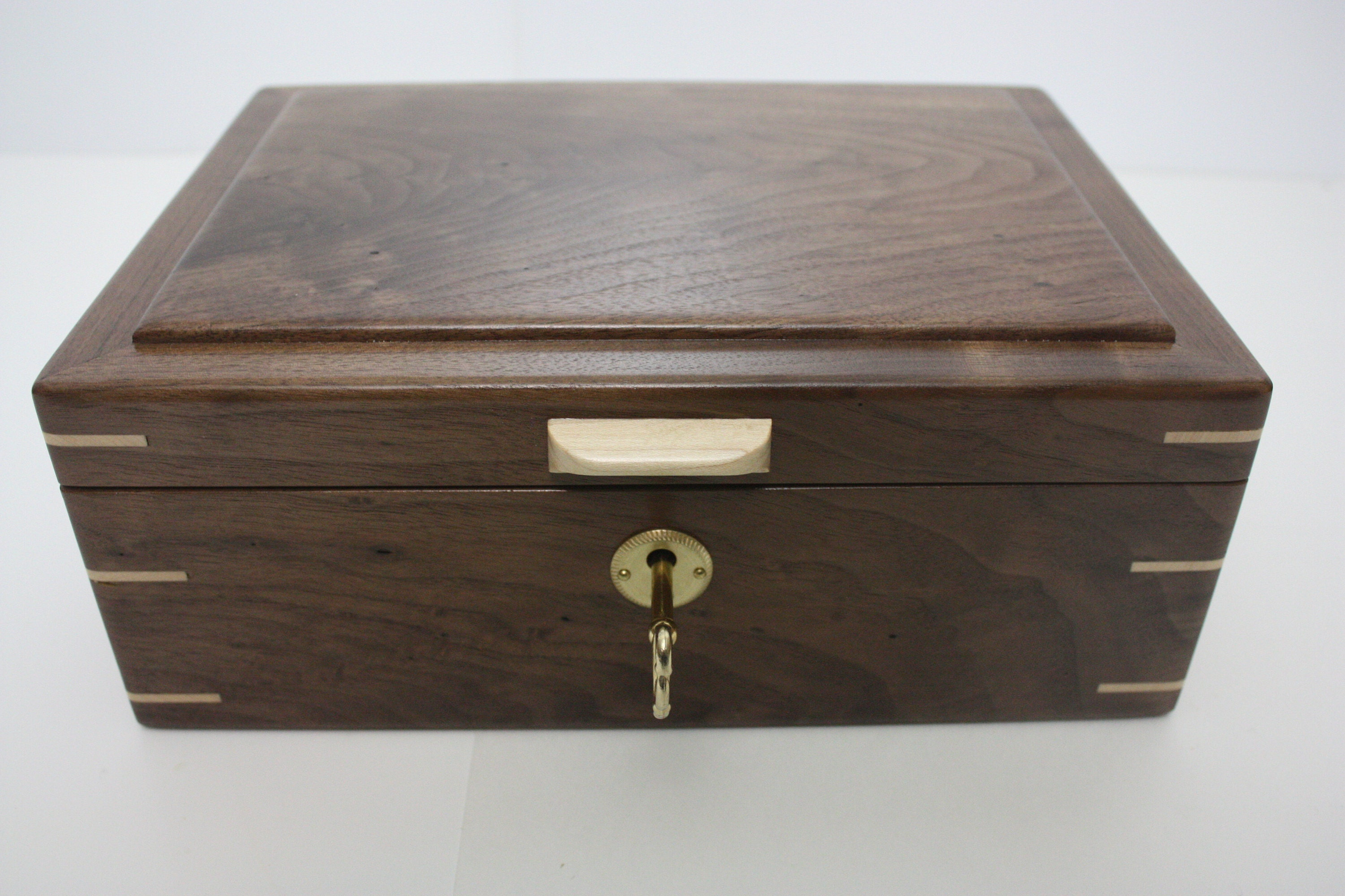 Locking Handcrafted Black Walnut Box