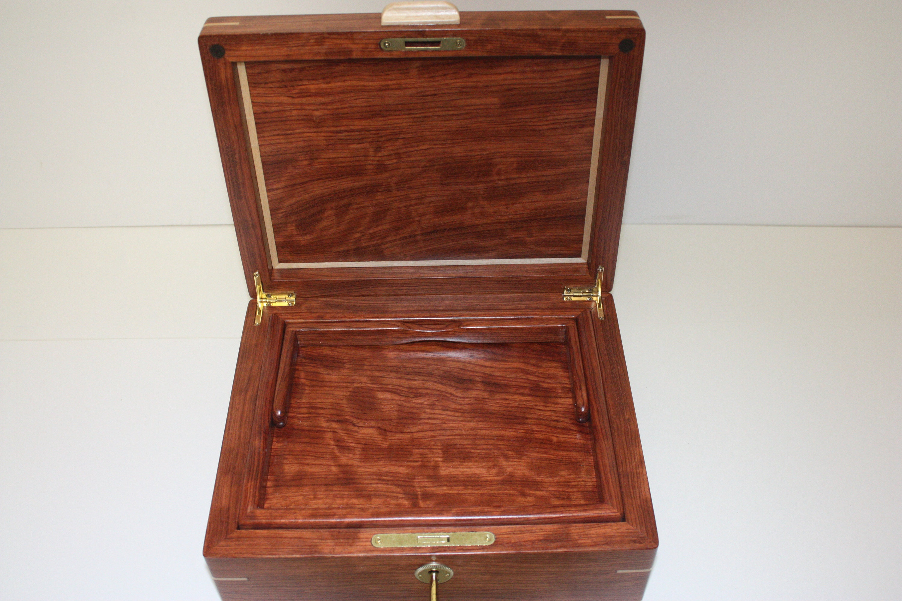 Large Wood Box with Lid For Sale
