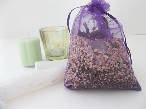 Spiritual Wellness Sachets with Gemstones