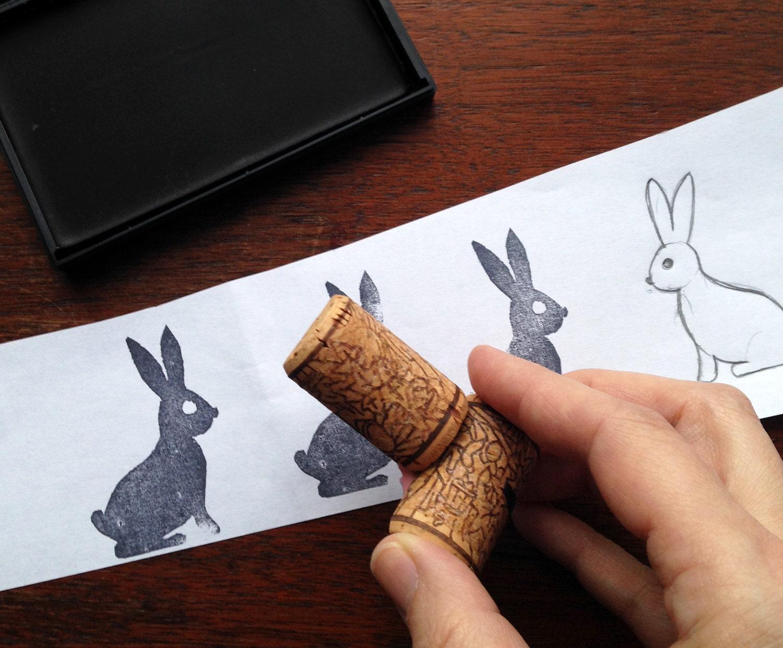 Test de létampe sur du papier