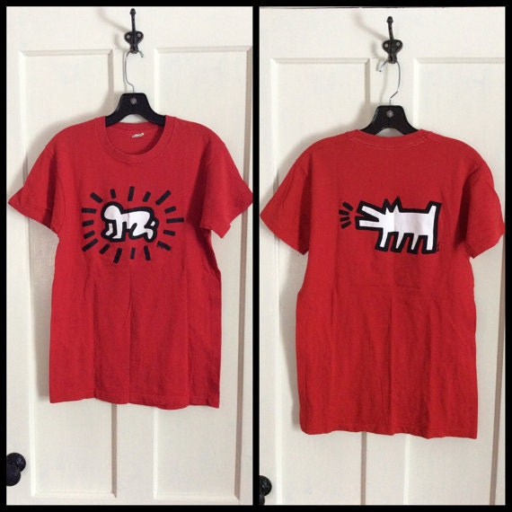1980s Keith Harring baby dog t-shirt