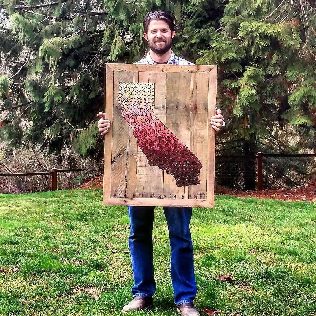 California State Wine Cork Art