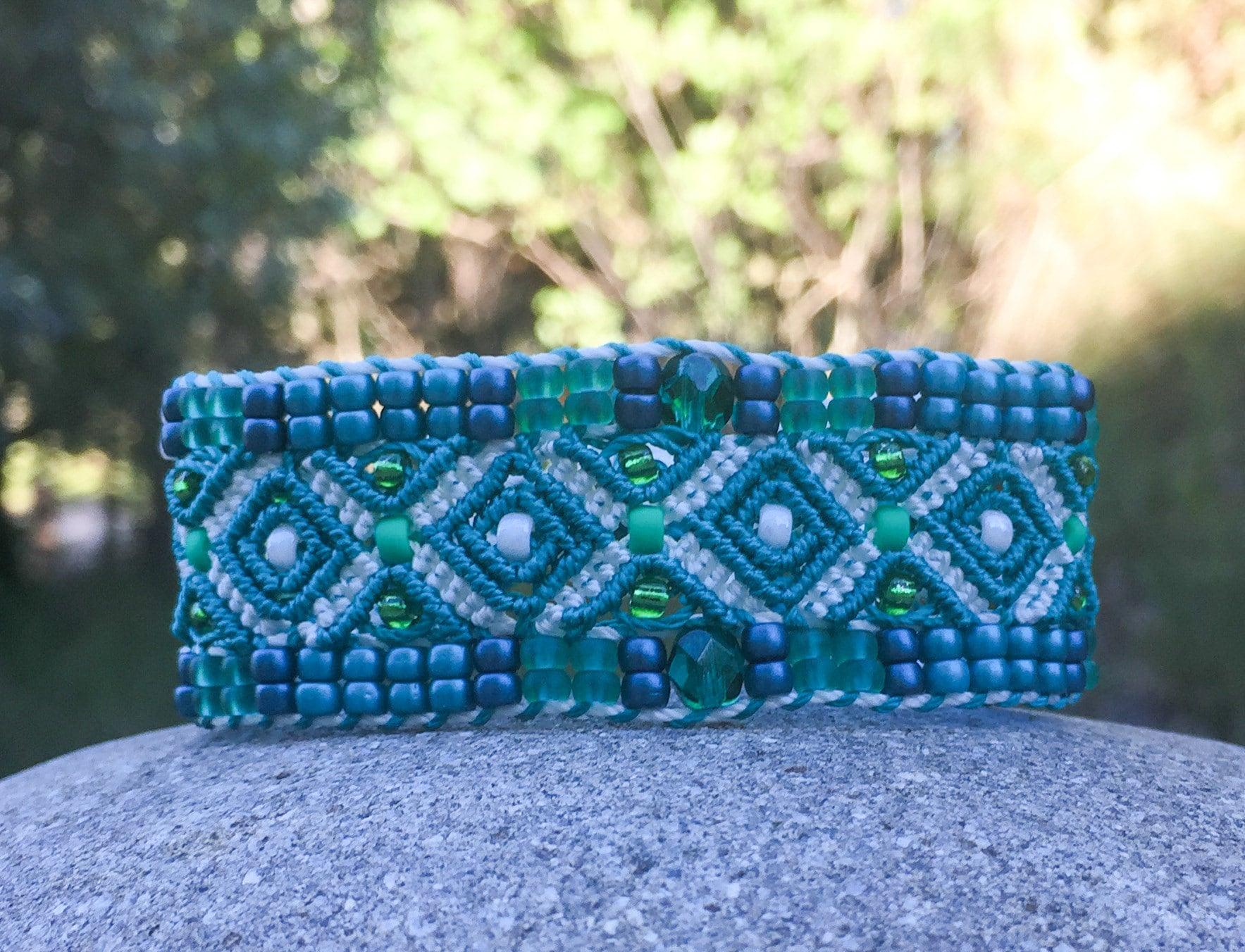 Bracelet Le Cassidain vert et blanc