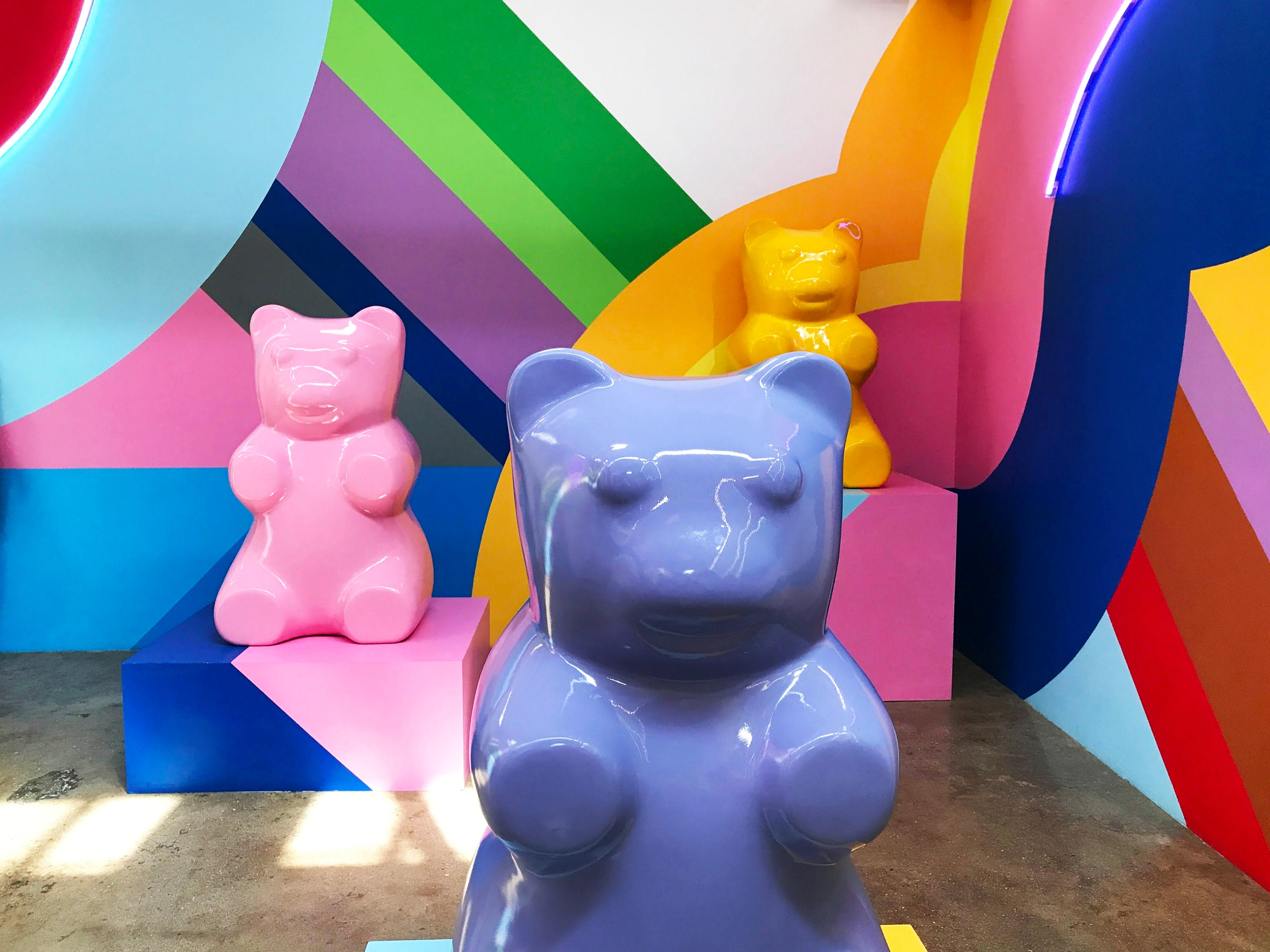 One of my favorite spaces- The gummy bear room