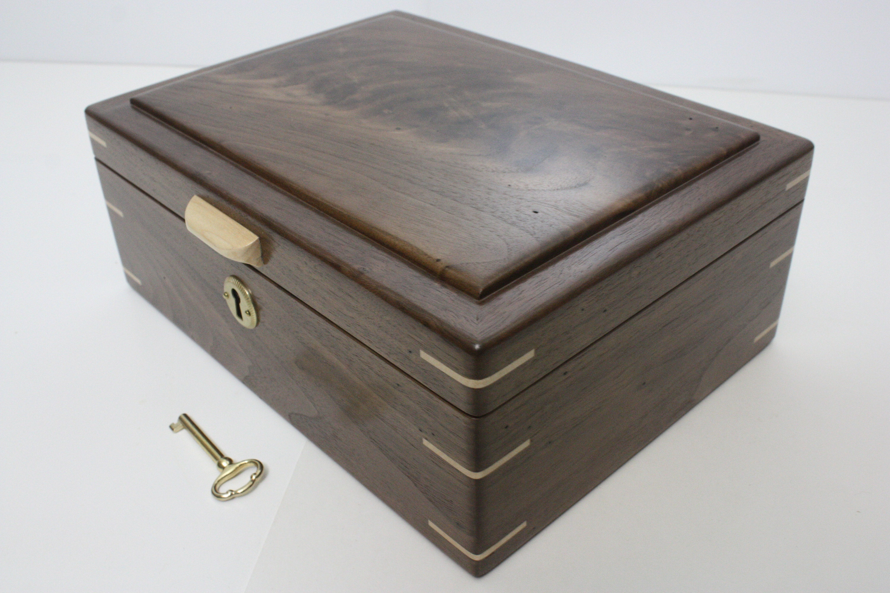 Handmade Locking Wood Box