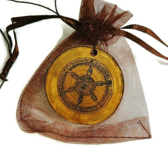 Aloy Seeker Symbol Handmade Wooden Pendant Necklaces / Keyrings / Earrings Charm