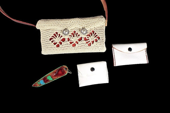 Handbag, Shoulder Bag, Purse, Leather Card Case, Leather Change Purse, Hand Tooled Key Chain, Winter White and Red, Handmade, Crochet Handbag, Shoulder Bag, Purse, Leather Card Case, Leather Change Purse, Hand Tooled Key Chain, Winter White and Red, Handmade, Crochet Handbag, Shoulder Bag, Purse, Leather Card Case, Leather Change Purse, Hand Tooled Key Chain, Winter White and Red, Handmade, Crochet Handbag, Shoulder Bag, Purse, Leather Card Case, Leather Change Purse, Hand Tooled Key Chain, Winter White and Red, Handmade, Crochet Handbag, Shoulder Bag, Purse, Leather Card Case, Leather Change Purse, Hand Tooled Key Chain, Winter White and Red, Handmade, Crochet 🔎zoom  Request a custom order and have something made just for you. Item details 5 out of 5 stars.      (61) reviews Shipping & Policies Handbag, Shoulder Bag, Purse, Leather Card Case, Leather Change Purse, Hand Tooled Key Chain, Red Leather Strap, Leather Interior, Winter White and Red, Pearl and Rhinestone Buttons, Handmade, Crochet  A gorgeous and very versatile handmade crocheted shoulder bag. It has a 2 button closure, leather interior, red leather handle, and a hand tooled leather keychain. It also comes with a white leather card case with red stitching and a white leather mini change purse. The leather key chains design is a multicolored hearts. The bag is winter white with a spider stitch front in which red leather is seen underneath. The buttons are faux pearl and rhinestone to add a touch of elegance and bling.   Size: 8 1/2 inches in length 4 1/4 inches in height 1 1/2 inches in width  The bag is crocheted using Number 5 winter white crochet cotton.   All leather is provided by Lawrence Carter from AcrossLeather here on Etsy. Lawrence is an expert leather artist. His shop carries a unique line of dog and cat collars, wallets, belts and more.  www.etsy.com/shop/AcrossLeather  The crocheting is done by myself, Patti Turon, here at ADKArtsBoutique. Here is a link to more of our purses and bags.   https://www.etsy.com/shop/ADKArtsBoutique?section_id=14177951&ref=shopsection_leftnav_4   ADKArtsBoutique and Across Leather offers you the best handmade bags, purses, clutches, and totes. Every part of these bags is completely made by hand, by us. with love and attention to detail.  © AcrossLeather Pet Collars, Leashes, and Beyond  © ADKArtsBoutique © For People Who Have A Deep Love Of Things Adirondack. Meet the owners of ADKArtsBoutique Learn more about their shop and process  Patti Turon    Joseph Turon   Seymour Montrose Weatherby Frequently asked questions about ADKArtsBoutique Custom and personalized orders Gift wrapping and packaging Handbag, Shoulder Bag, Purse, Leather Card Case, Leather Change Purse, Hand Tooled Key Chain, Winter White and Red, Handmade, Crochet