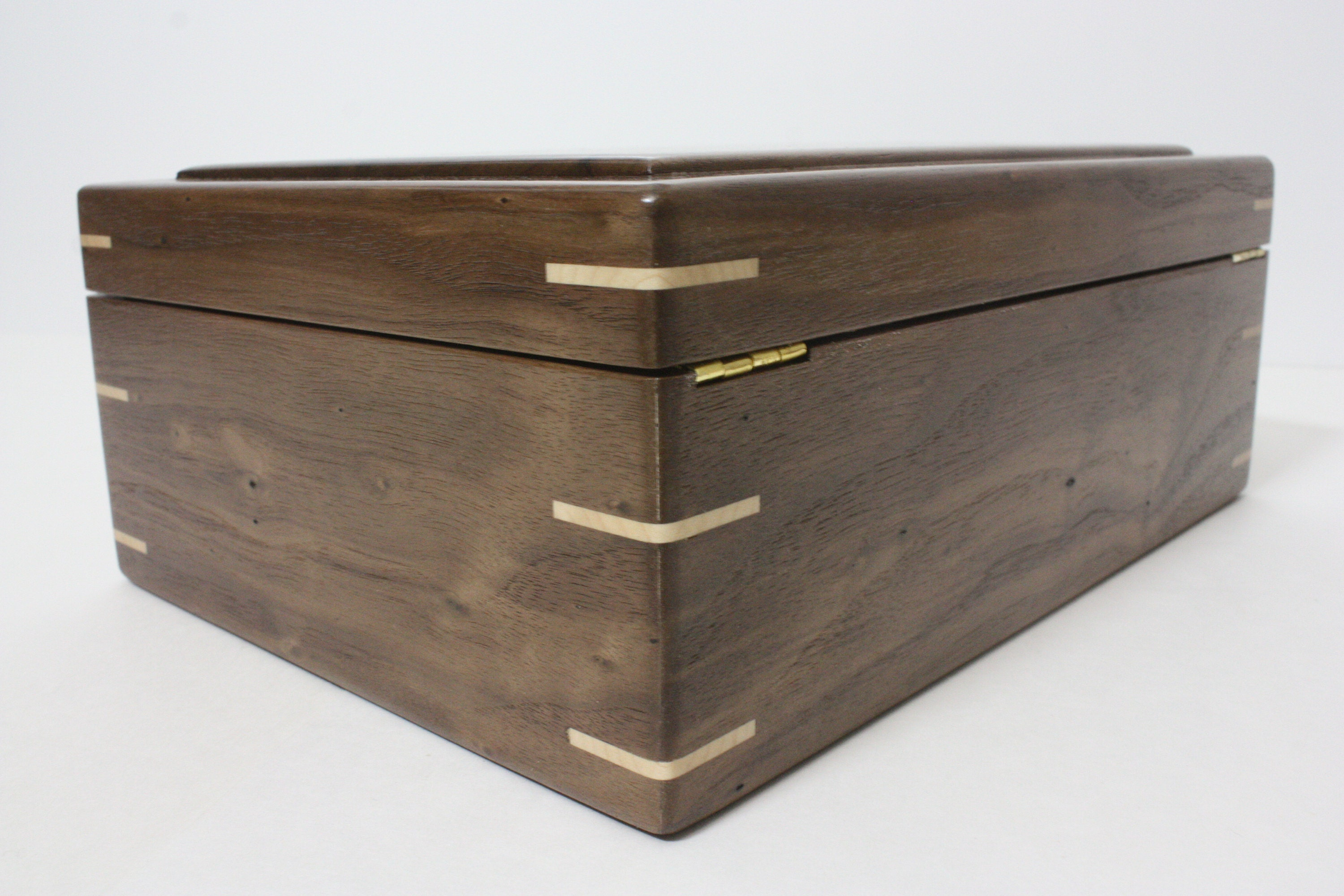 Hinged Walnut Wood Box