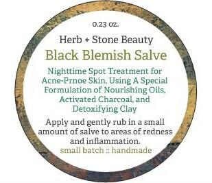 Label for Black Blemish Salve
