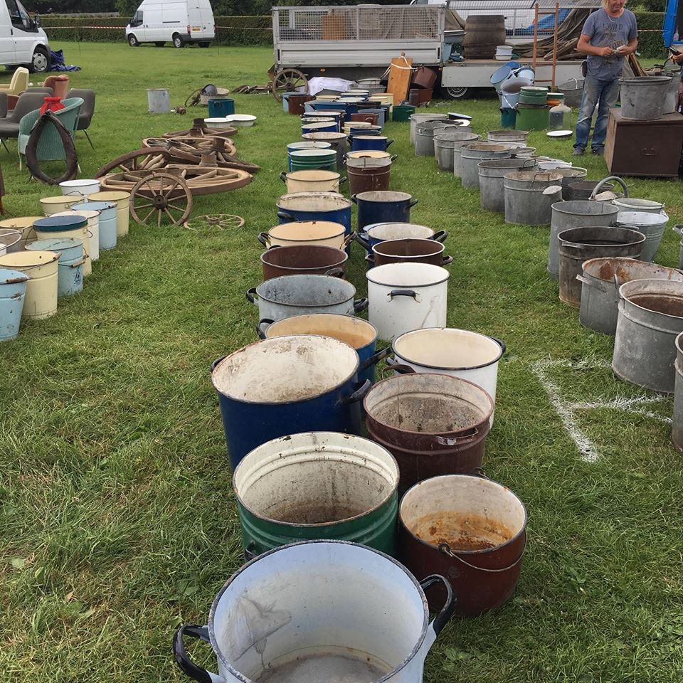 Buckets and Wheels At Ardingly Antiques fair