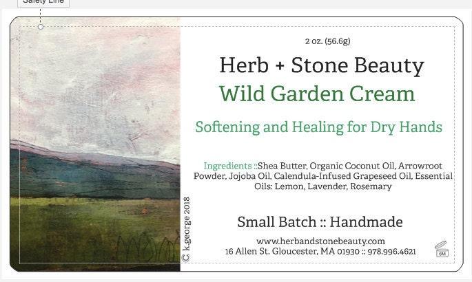 Label in Progress for Wild Garden Cream