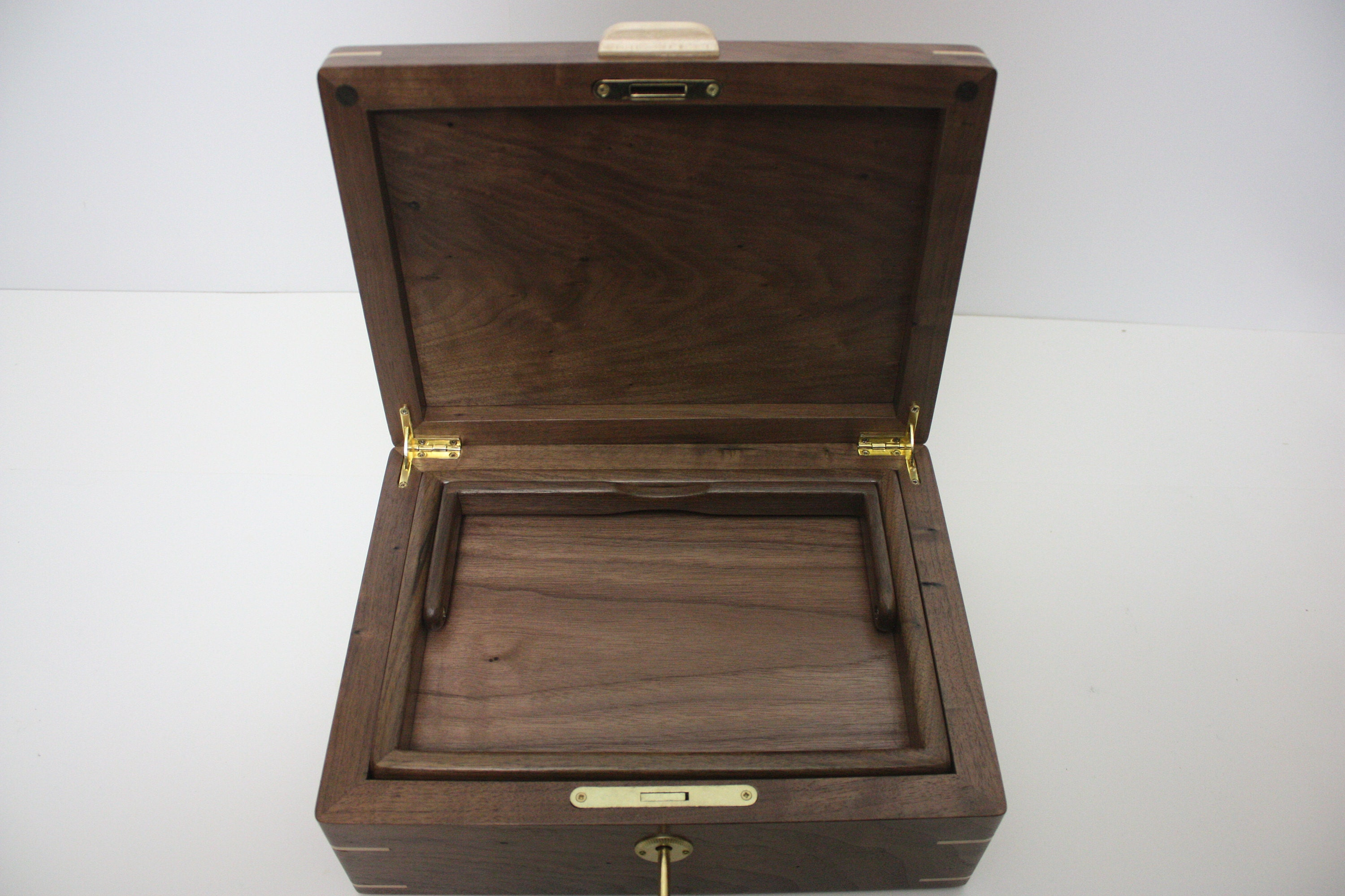 Lift Out Tray in Wooden Box