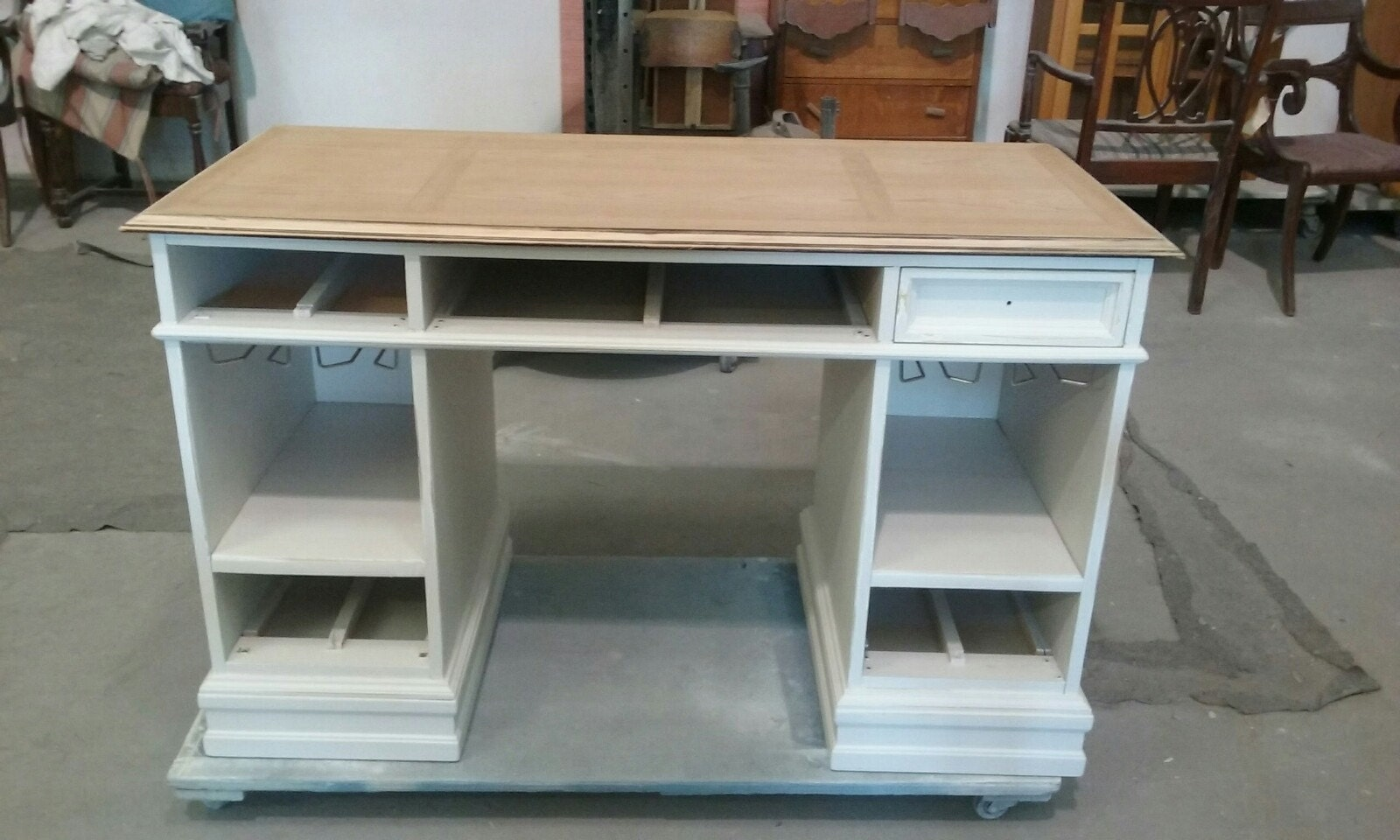desk, wine bar, liquor cainet, bar, repurpose, redesign