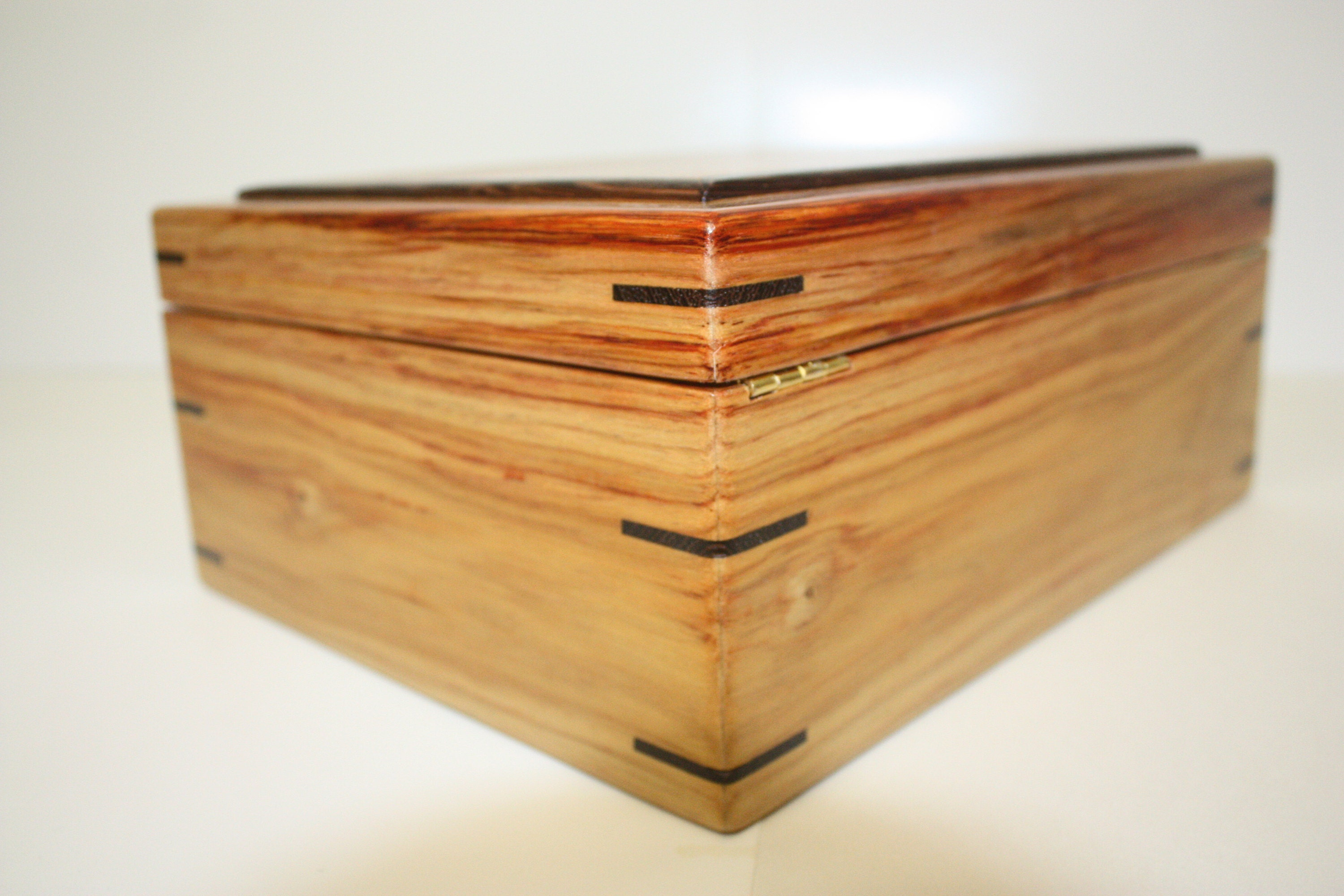 Canarywood Box with Quadrant Hinges and Lock