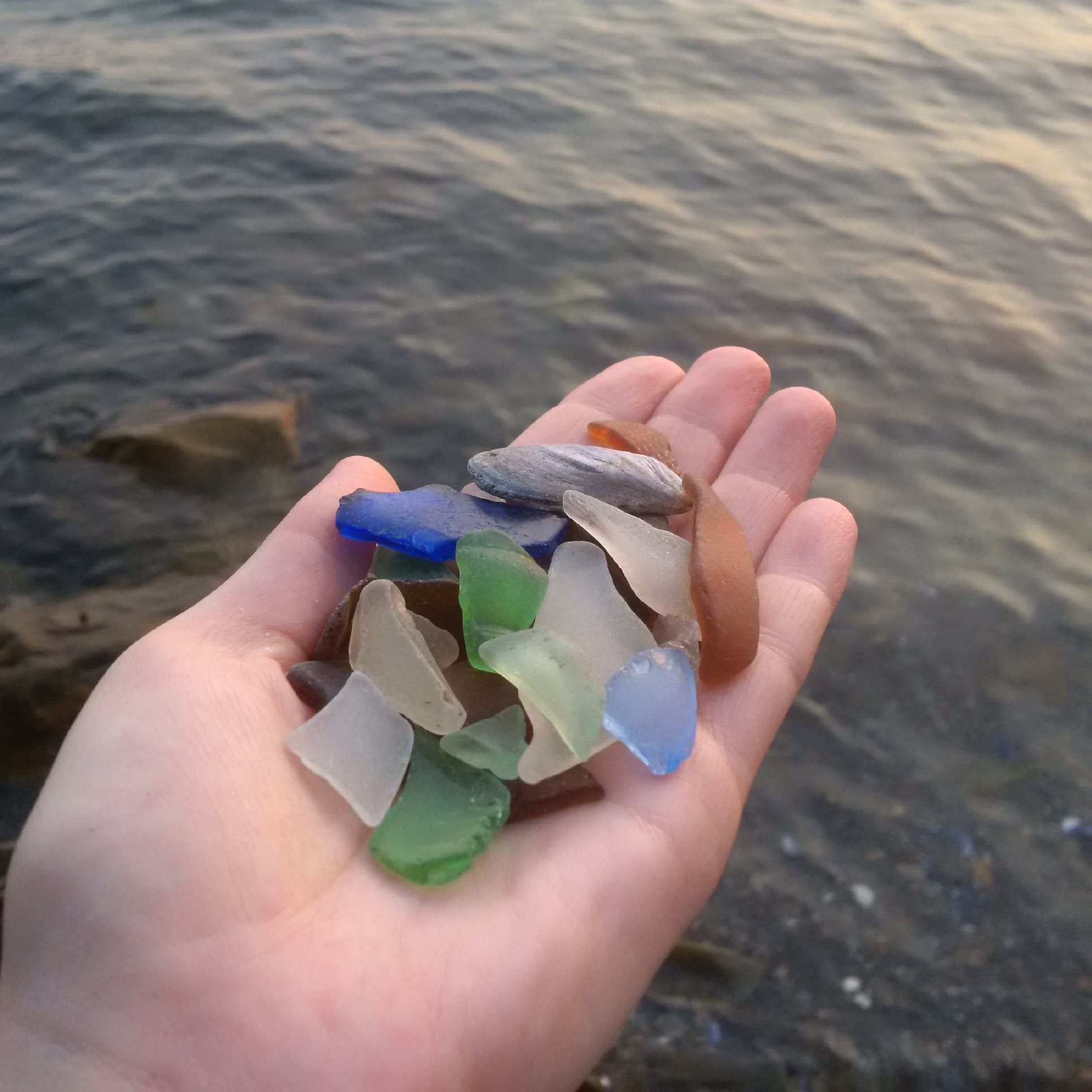 Sea glass collecting in nova scotia