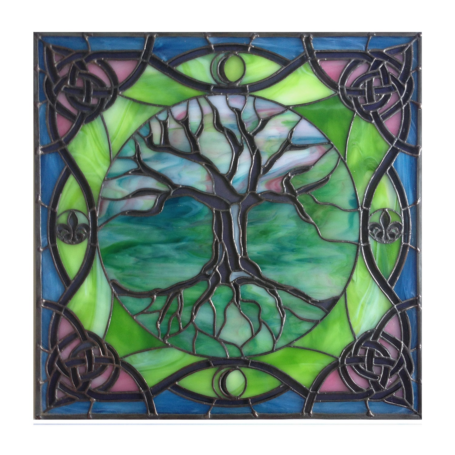Tree of Life with Celtic, French, Moon Ornaments
