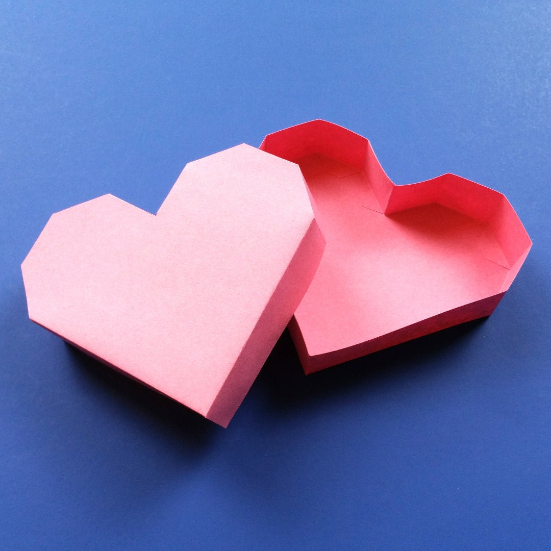 DIY Paper Heart Box for Valentines Day