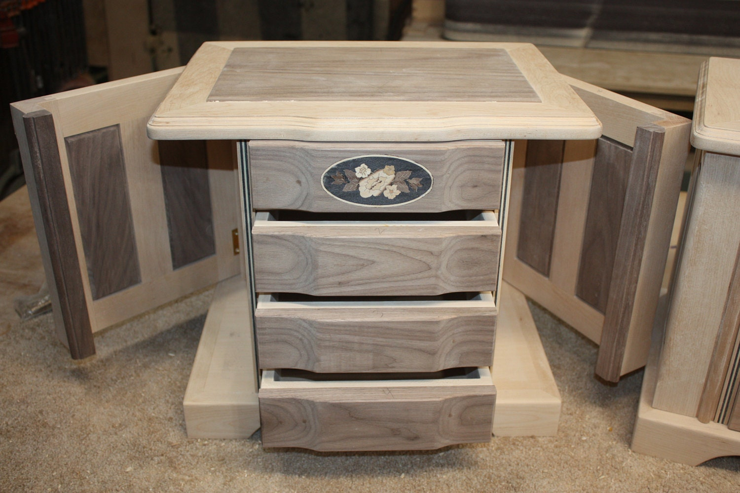 Large 4 Drawer Jewelry Box with Swing Out Sides