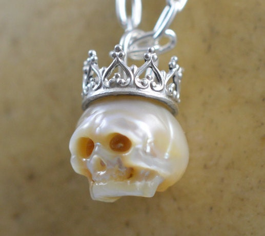 Full Skull Wearing Sterling Silver Skull Necklace