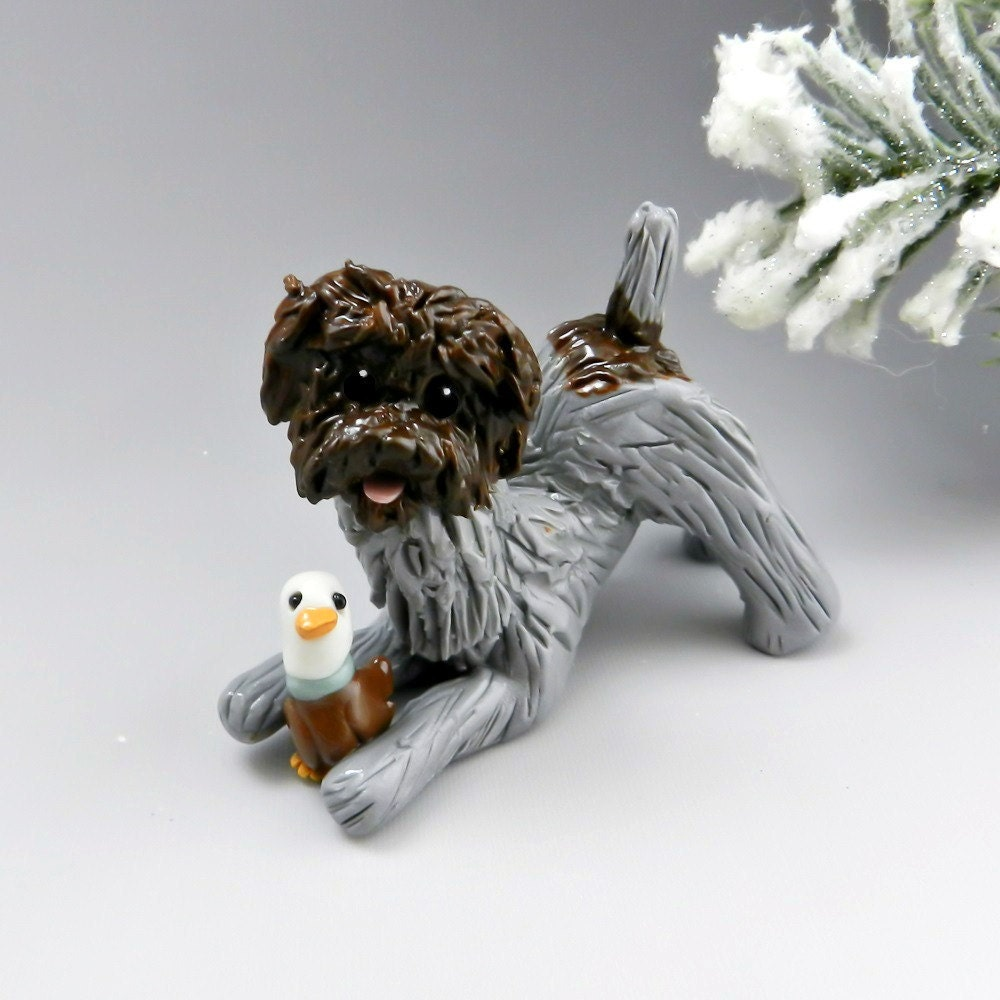 Wirehaired Pointing Griffon Figurine