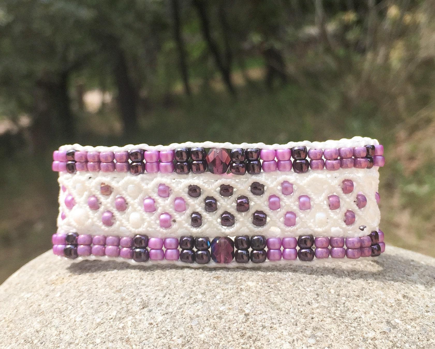 Bracelet Le Niçois blanc et violet