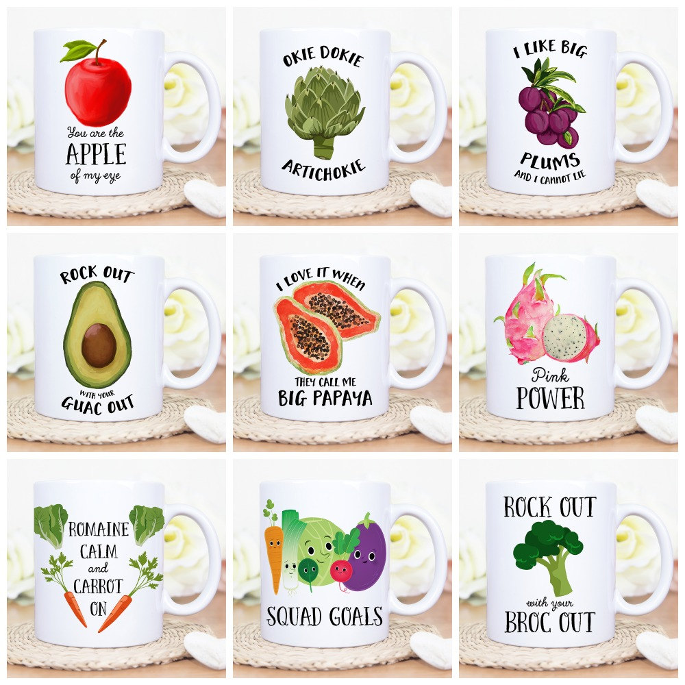 Veggie Coffee Mugs