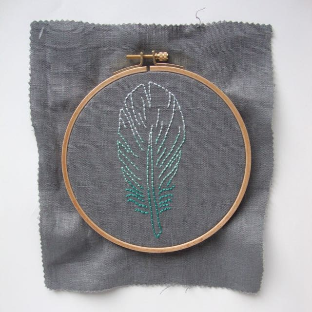 Finish your embroidery hoop: centre the stitching in the hoop.