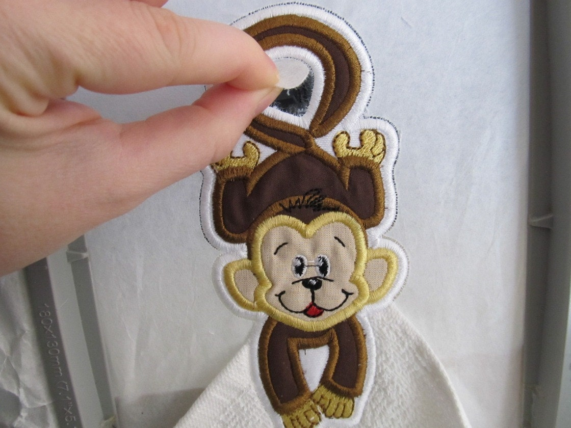This is the towel topper machine embroidery applique design