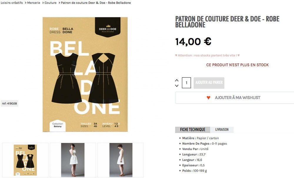 Robe Deer & Doe Belladone