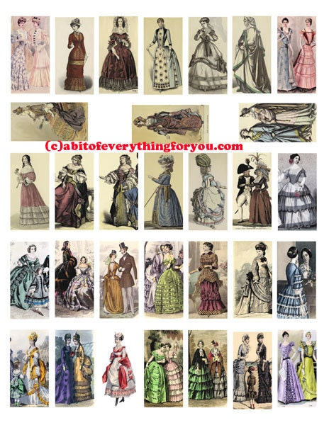 1800s women victorian dresses fashion plates