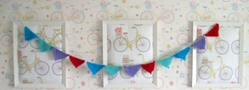 Knitted bunting by Pretty Sew Sew