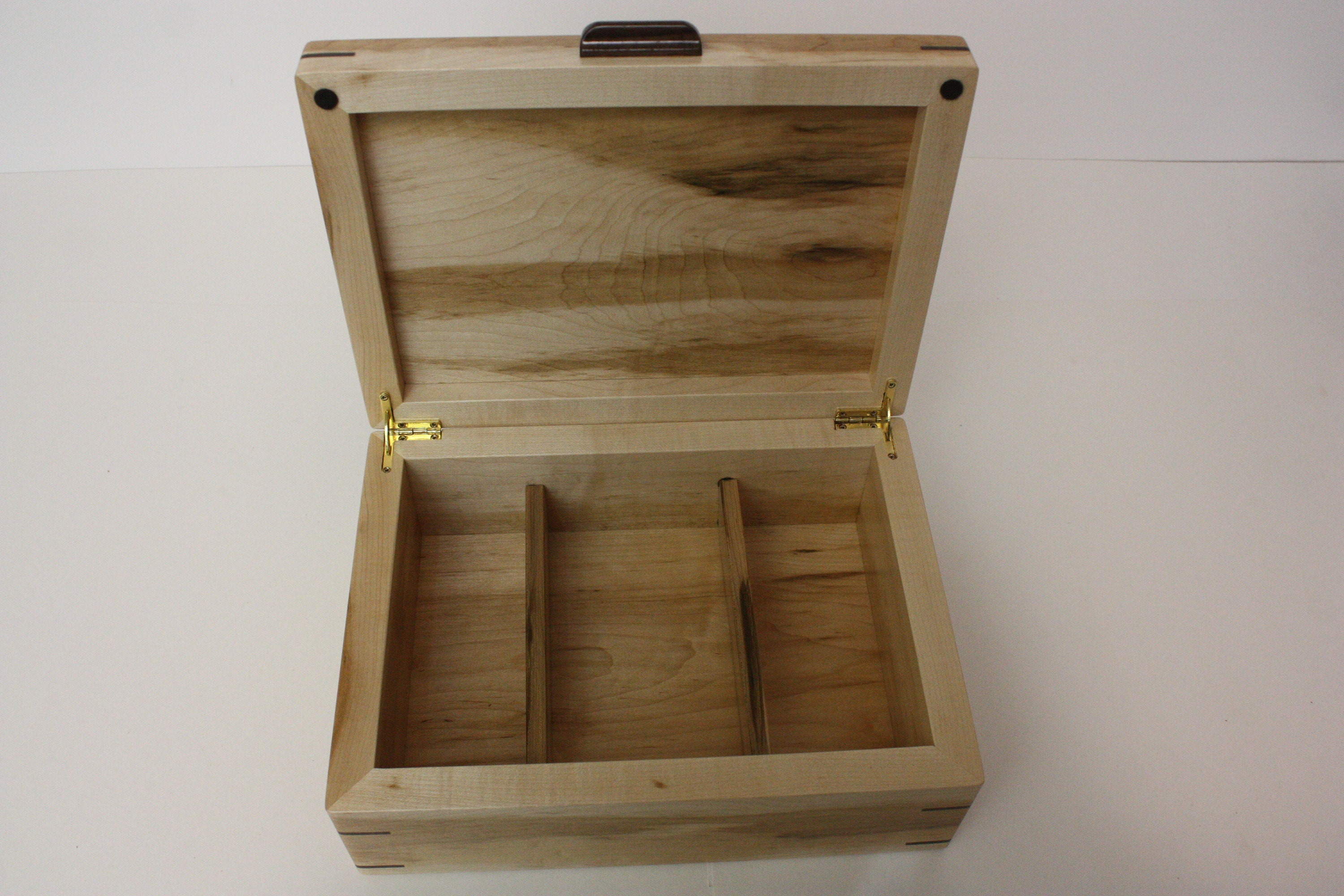 Large wood box with dividers for sale