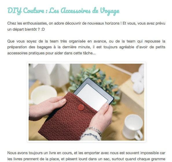 Extrait article DIY couture