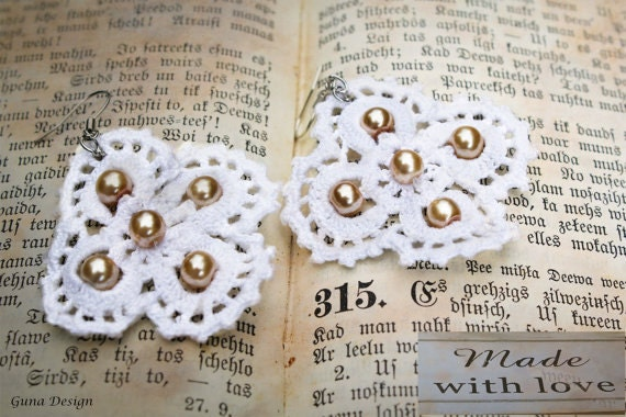 gunadesign lace earrings