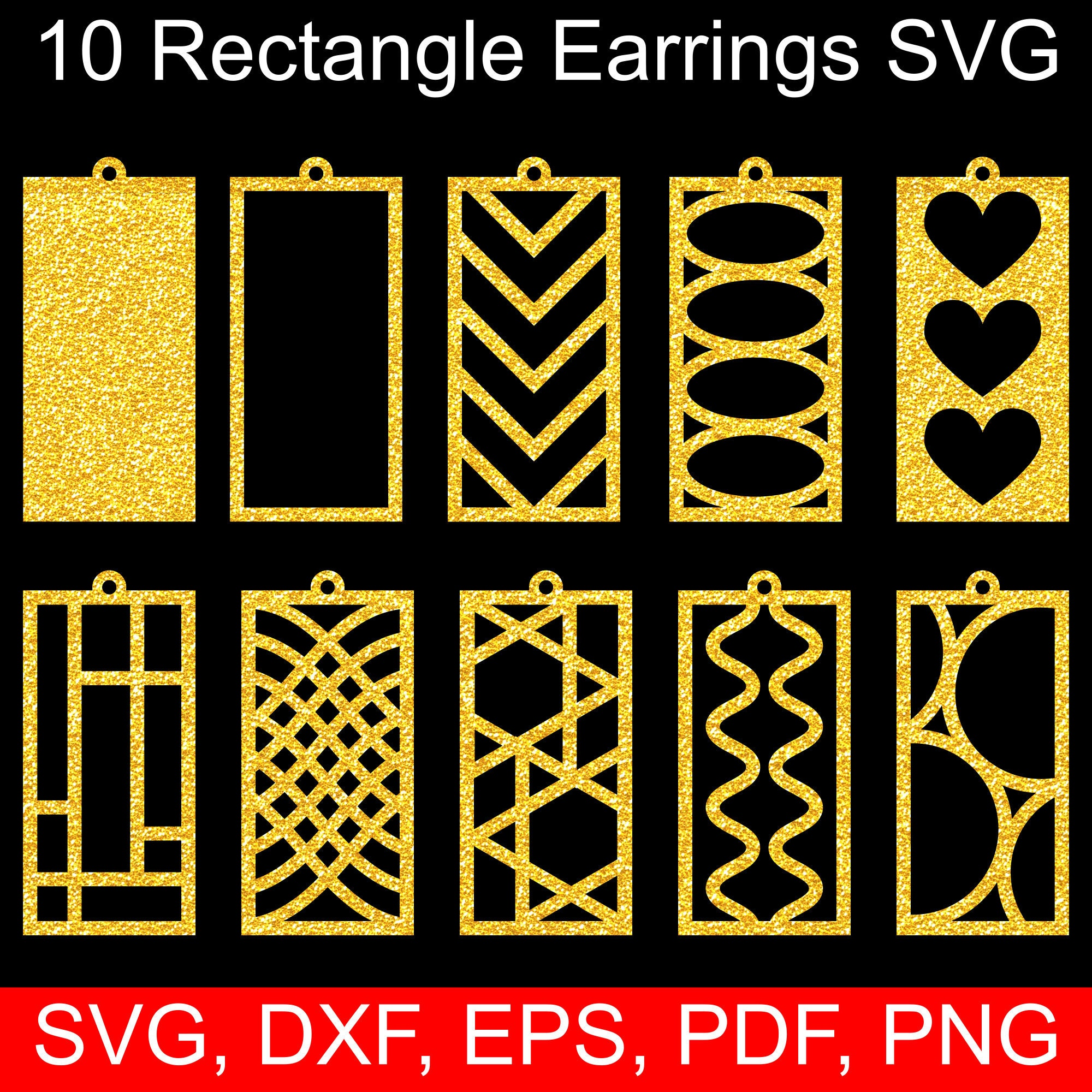 Rectangle earrings SVG