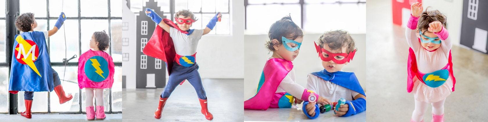 Personalized Superhero Capes Superhero Parties von superkidcapes