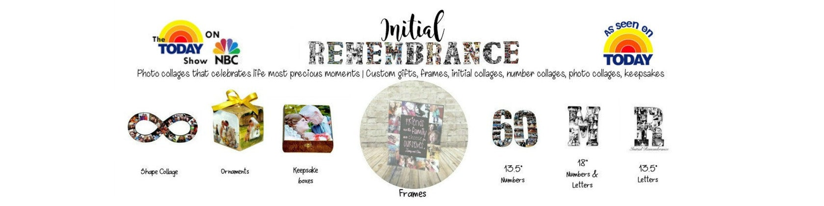 Photo Keepsake Gifts As seen on the TODAY von InitialRemembrance