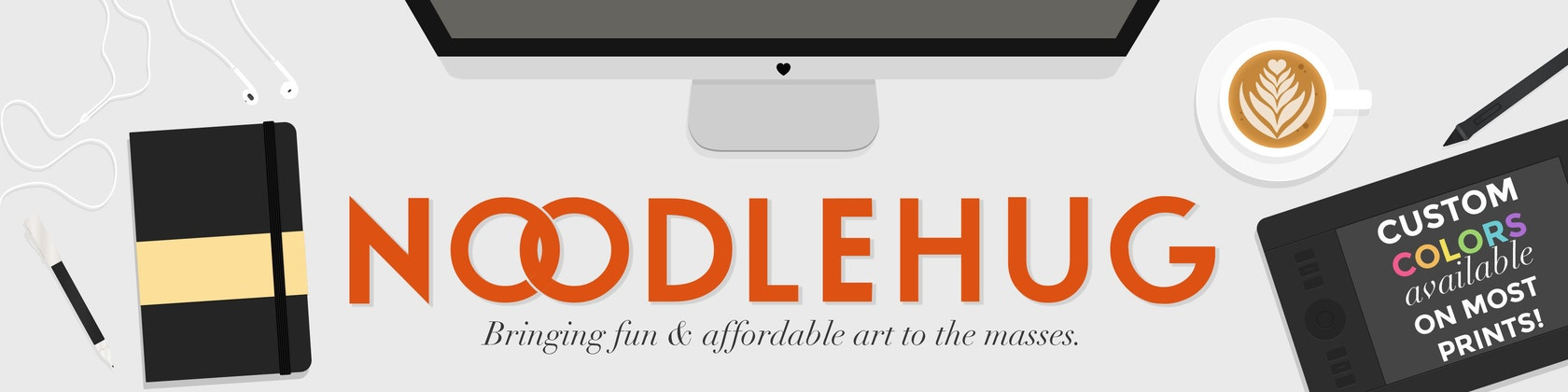 Fun Modern Prints for the Home Custom Colors Welcome von noodlehug