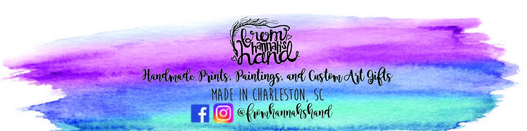 Handmade prints cards custom art gifts by fromhannahshand fromhannahshand handmade prints cards custom art gifts charleston south carolina negle Gallery
