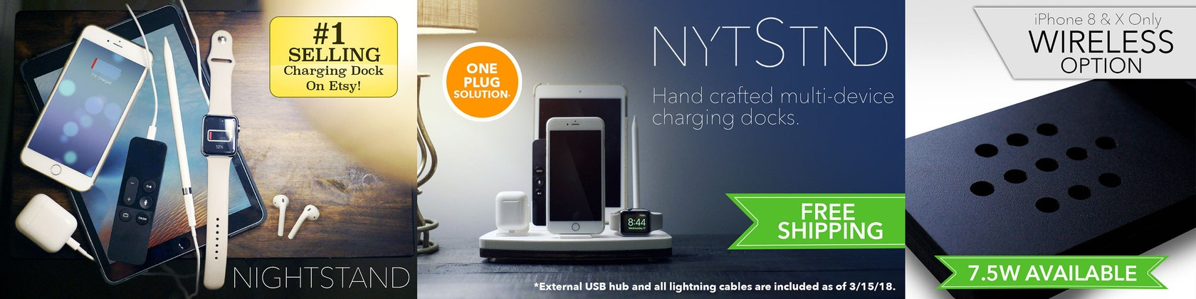 The World\'s First Ever QUAD Charging Dock and more von NytStnd