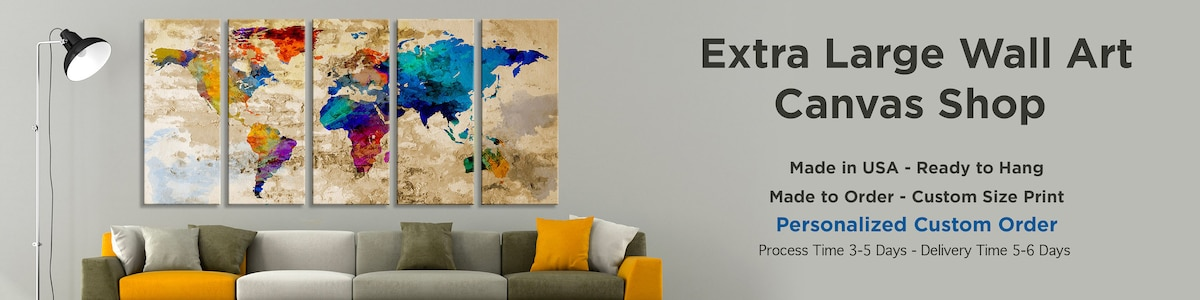 World map canvas prints gumiabroncs Image collections